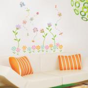 lumottu kukkapuutarha seinätarra