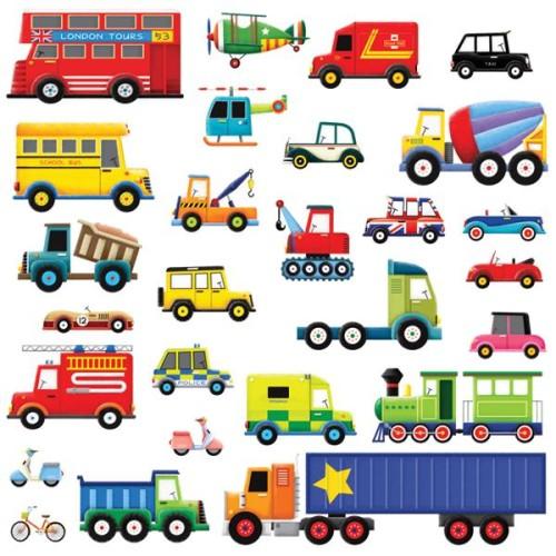 28 ajoneuvoa seinätarra