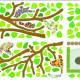 4 oksaa ja linnunpöntöt seinätarra 3