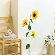 auringon kukka seinätarra 2