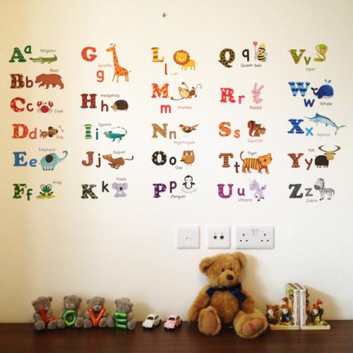 eläin aakkoset seinätarra