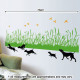 juoksevat koirat seinätarra 4