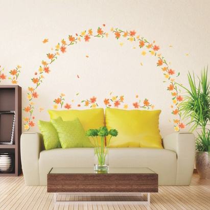 kevään kukkia seinätarra