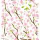 kirsikankukka seinätarra 2