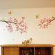 kirsikankukkia ja lintuja seinätarra 3