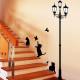 kissat katulampun alla seinätarra 2