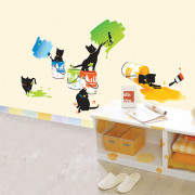 maalaavat kissat seinätarra
