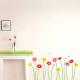 maasta kasvavia kukkia seinätarra 2