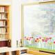 maasta kasvavia kukkia seinätarra 3