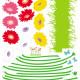 maasta kasvavia kukkia seinätarra 4