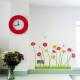 maasta kasvavia kukkia seinätarra 5
