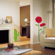 punainen gerbera seinätarra 2