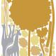 puu ja kirahveja seinätarra 3