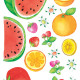 tuoreita hedelmiä seinätarra 3
