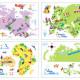 värikäs maailman kartta seinätarra 3