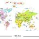 värikäs maailman kartta seinätarra 4