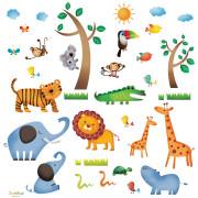 viidakko lasten seinätarra