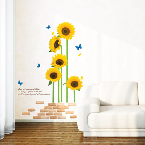 auringonkukkia seinätarra