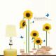 auringonkukkia seinätarra 2