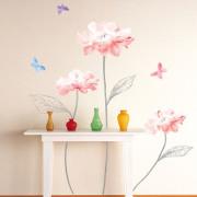 eloisat vaaleanpunaiset kukat seinätarra