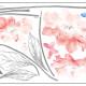 eloisat vaaleanpunaiset kukat seinätarra 3
