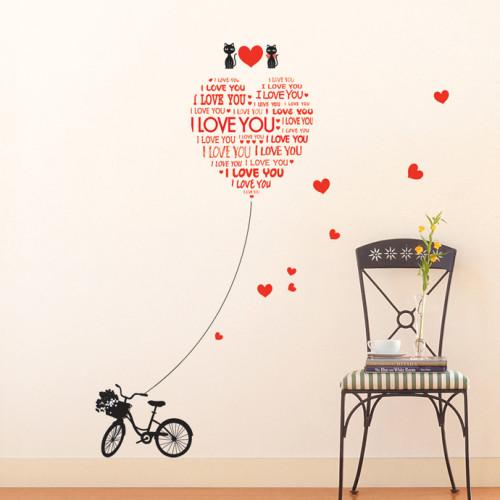 i love you sydän seinätarra