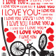 i love you sydän seinätarra 2