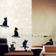mustat kissanpennut seinätarra 2