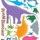 Dinosaurus Maailma Seinätarra 3