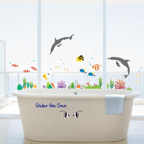 Kalat Ja Delfiinit Seinätarra