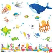 Meren Elämää Seinätarra